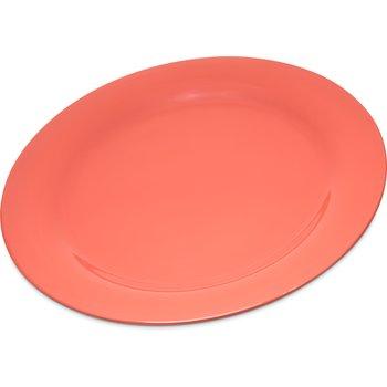 """4300252 - Durus® Melamine Dinner Plate Narrow Rim 10.5"""" - Sunset Orange"""