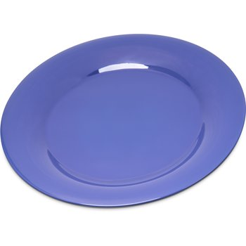 """4301214 - Durus® Melamine Wide Rim Dinner Plate 9"""" - Ocean Blue"""