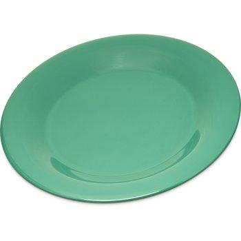 """4301209 - Durus® Melamine Wide Rim Dinner Plate 9"""" - Green"""