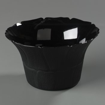 693103 - Petal Mist Bell Bowl 3.4 qt, 9-3/4&quot; - Black