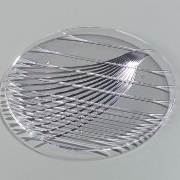 "641307 - Festival Trays™ Round Tray 13"" - Clear"