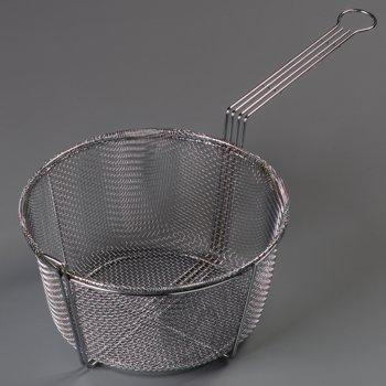 "601002 - Mesh Fryer Basket 11-1/2"" - Chrome"