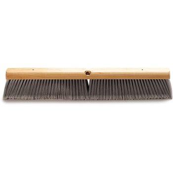 "4501423 - Flagged Bristle Hardwood Push Broom Head (Handle Sold Separately) 24"" - Gray"