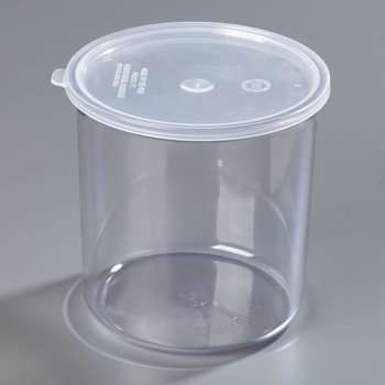 030207 - Classic Crock w/Lid 2.7 qt - Clear