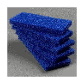 "4072500 - Medium Scrub Pad 10"" x 4-5/8"" x 1"" (5ea) - Blue"