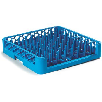 "ROP14 - OptiClean™ Open End All Purpose Tall Peg Dish Rack 3"" Pegs - Carlisle Blue"