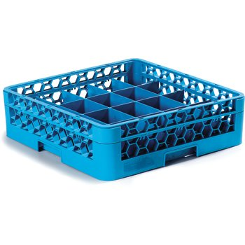 RC20-114 - OptiClean™ Tilted Cup Rack with One Open Extender 20 Compartment - Carlisle Blue