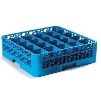 "RG25-114 - OptiClean™ 25 Compartment Glass Rack with 1 Extender 5.56"" - Carlisle Blue"