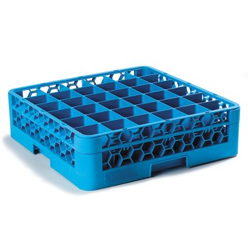 "RG36-114 - OptiClean™ 36 Compartment Glass Rack with 1 Extender 5.56"" - Carlisle Blue"