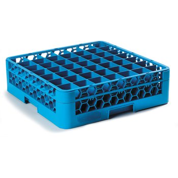 "RG49-114 - OptiClean™ 49 Compartment Glass Rack with 1 Extender 5.56"" - Carlisle Blue"