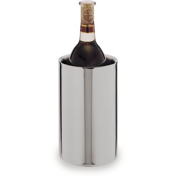 609143 - Double Wall Wine Cooler, Satin Finsh w/Mirror Finish Rim 4-3/4""