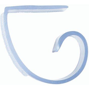 """5CCLIP - Standard Plastic C-Clip, Hook & Loop Header - 12 Pack 1"""" - White"""