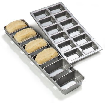 606902 - Steeluminum® 6 Loaf Mini Loaf Pan 17.5 oz