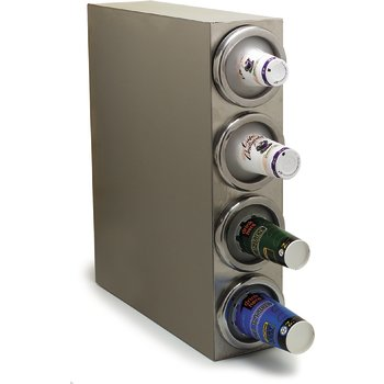 """38884G - 4 Cup Dispenser, Square Cabinet Model 25"""", 7"""", 29-1/8"""" - Stainless Steel"""