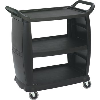 """CC203603 - Small Bussing and Transport Cart 18"""" x 36"""" - Black"""