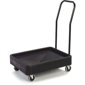 "XDL3000H03 - Cateraide™ Dolly w/Handle 22-3/8"" x 28-3/4"" - Black"