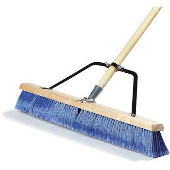 "367382TC14 - 24"" Fine Sweep w/Flagged Blue Plastic Bristles - Blue"
