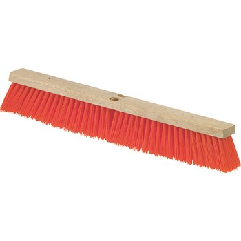"36762424 - Flo-Pac® Heavy Polypropylene Sweep w/Brace 24"" - Orange"
