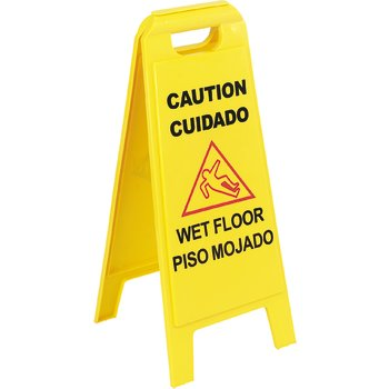"3690000 - Wet Floor Sign (English/Spanish) 25"" - Yellow"