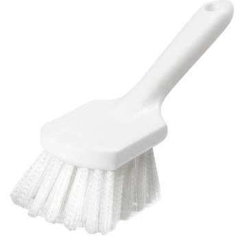 "4054500 - Sparta® Bent Handle Utility Scrub Brush With Stiff Polyester Bristles 8"" x 3"""