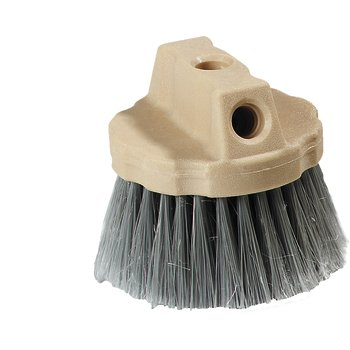4535023 - Round Window Brush With Flagged Polypropylene Bristles 4-1/2 - Gray