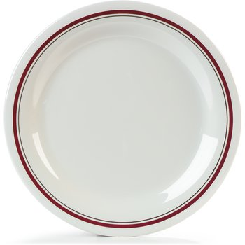 "42005903 - Melamine Plate Narrow Rim 9"" - Morocco on Bone"
