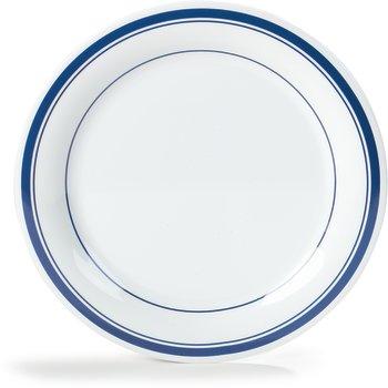 """43005912 - Durus® Melamine Dinner Plate Narrow Rim 9"""" - London on White"""