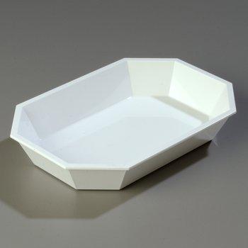 """672302 - 2.5 lb Low Profile Crock 10-1/2"""" x 7"""" - White"""