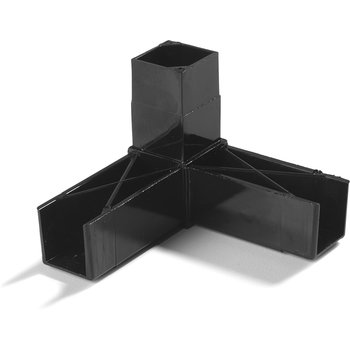 "900203 - Sneeze Guard Assembly Blocks 1"" 90* 3 Prong - Black"