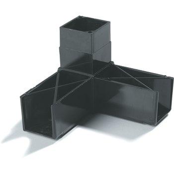 "900303 - Sneeze Guard Assembly Blocks 1-1/4"" 90* 3 Prong - Black"