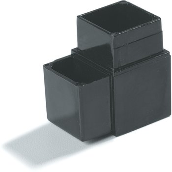 "900403 - Sneeze Guard Assembly Blocks 1"" 90* 2 Prong - Black"