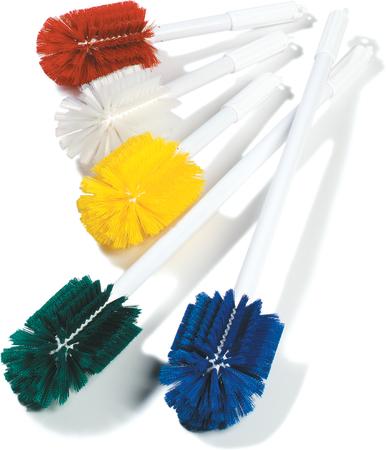 "Carlisle Sparta® Spectrum® Multi-Purpose Valve & Fitting Brush 16"" Long/3-1/2"" x 5"" Oval - Green 4000309"