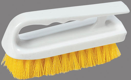 "Carlisle Sparta® Spectrum® Hand Scrub Brush 6"" - Yellow 4002404"