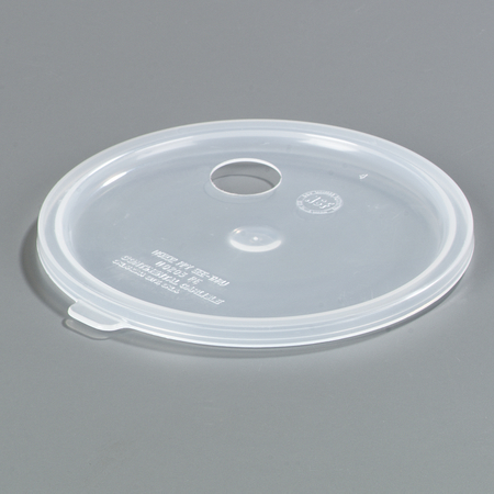 Carlisle 2.7 qt Lid with Hole for Pump - See Thru 020430