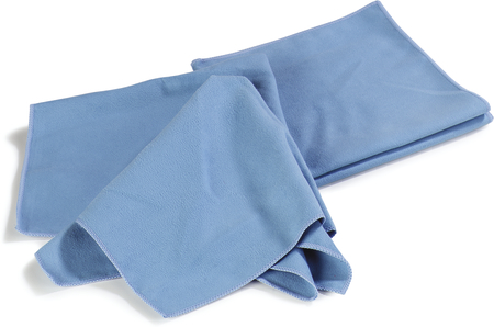 "Carlisle Flo-Pac® Microfiber Fine Polishing Cloth 16"" x 16"" - Blue 3633314"