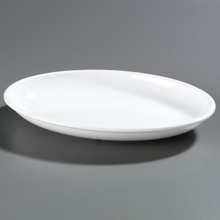 "Carlisle Designer Displayware 4 qt Oval Platter 19-3/16"" x 13-3/4"" - White 791802"