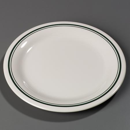 "Carlisle Durus® Narrow Rim Dinner Plate 9"" - Orleans on Bone 43005905"