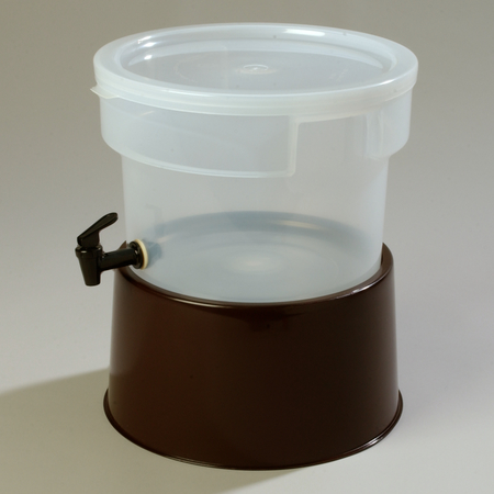 Carlisle Round Dispenser w/Base 3 gal - Brown 222701