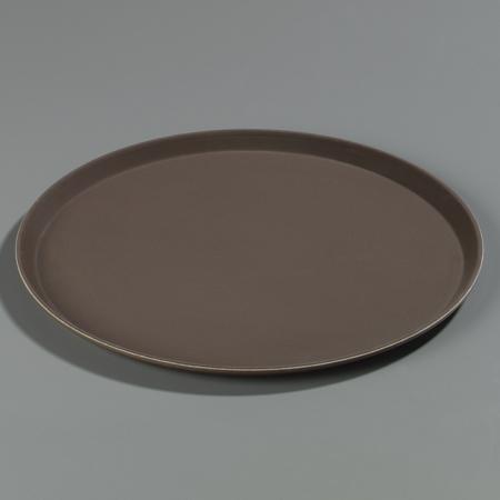 "Carlisle Griptite Round Tray 16"" / 23/32"" - Toffee Tan 1600GR076"