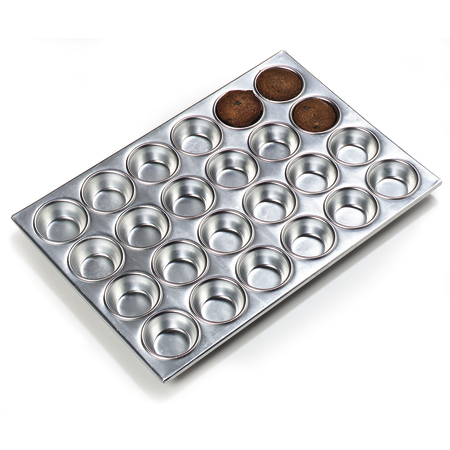 602424 - 24 Cup Muffin Pan 3 oz - Aluminum