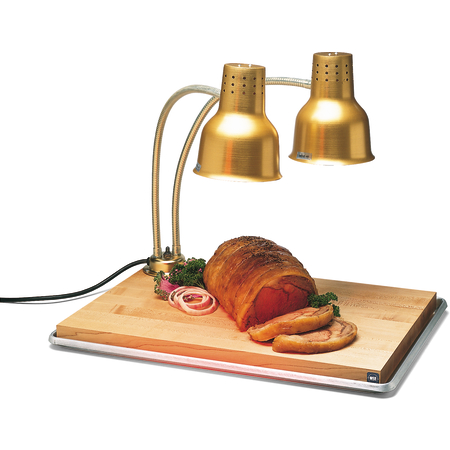 "HL8285GB21 - FlexiGlow™ Dual Arm Heat Lamp w/Board & Pan 24"" - Gold"