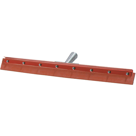 """4007500 - Flo-Pac® Straight Red Gum Rubber Floor Squeegee With Heavy Duty Steel Frame 18"""""""