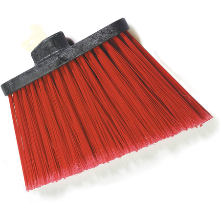 """3686705 - Duo-Sweep® Medium Duty Angle Broom w/12"""" Flare (Head Only) 12"""" - Red"""