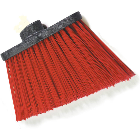 "3686805 - Duo-Sweep® Heavy Duty Angle Broom w/12"" Flare (Head Only) 8"" - Red"