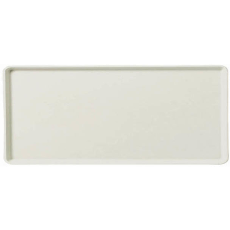 "1216LFG001 - Glasteel™ Solid Low Edge Tray 12"" x 16"" - Bone White"