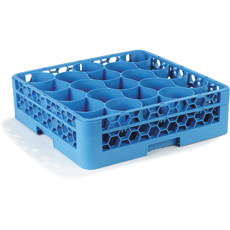 RW2014 - OptiClean™ NeWave™ Glass Rack with Integrated Extender 20 Compartment - Carlisle Blue