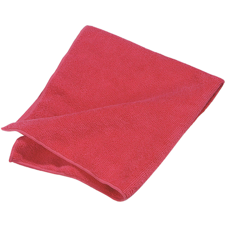 """3633405 - Terry Microfiber Cleaning Cloth 16"""" x 16"""" - Red"""
