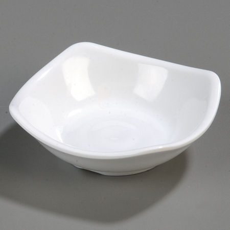 "794002 - Melamine Small Flared Rim Square Dish Bowl 3.5"" - White"