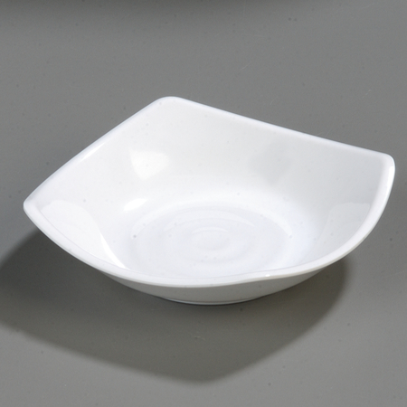 "794202 - Melamine Flared Rim Square Dish Bowl 5.25"" - White"