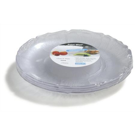 "6956-807 - Petal Mist® Plate 9"" - Cash & Carry (4/st) - Clear"